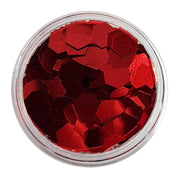 MUOBU Red Chunky Glitter (Metallic Glitter Hexagons) - Constant Craving - MUOBU