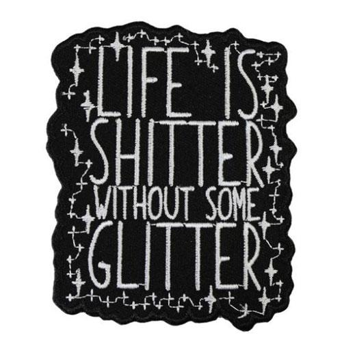 MUOBU Life Is Sh*tter Without Some Glitter Iron-On Festival Patch - MUOBU