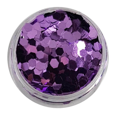 MUOBU Lilac Chunky Glitter (Metallic Glitter Mini Hexagons) - Purply Wurply - MUOBU