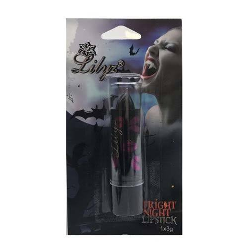Lilyz Fright Night Halloween Lipstick - Black - MUOBU