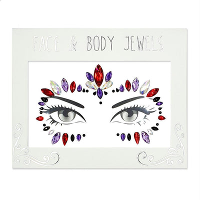 MUOBU Festival Face Jewels Set - Masquerade Ball Ruby - MUOBU