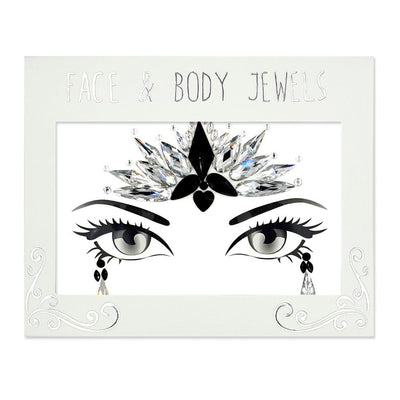 MUOBU Festival Face Jewels Set - Indian Goddess Silver & Black - MUOBU