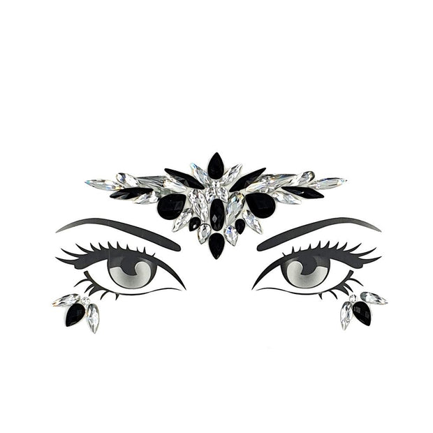 MUOBU Festival Face Jewels Set - Serenity Silver & Black - MUOBU