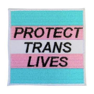 MUOBU Protect Trans Lives Iron-On Festival Patch - MUOBU