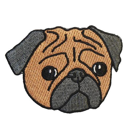 MUOBU Pug Iron-On Festival Patch - MUOBU