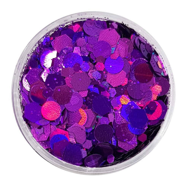 MUOBU Purple Festival Glitter (Holographic Chunky Glitter Mix) - Purple Passion - MUOBU