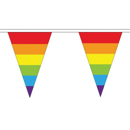 MUOBU Gay Pride Rainbow Flag Cloth Bunting Small (20m x 54 flags) - MUOBU