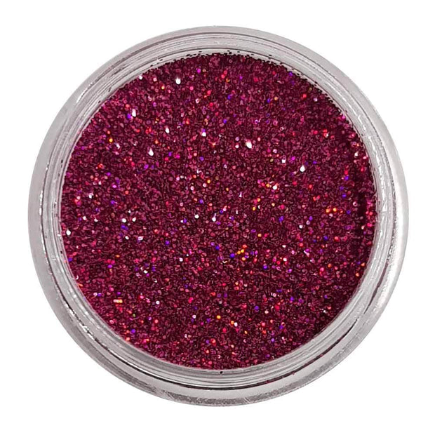 MUOBU Red Glitter (Fine Holographic Glitter) - Rippled Raspberry - MUOBU