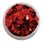 MUOBU Red Glitter Hearts (Metallic Glitter Hearts) - Be My Valentine - MUOBU