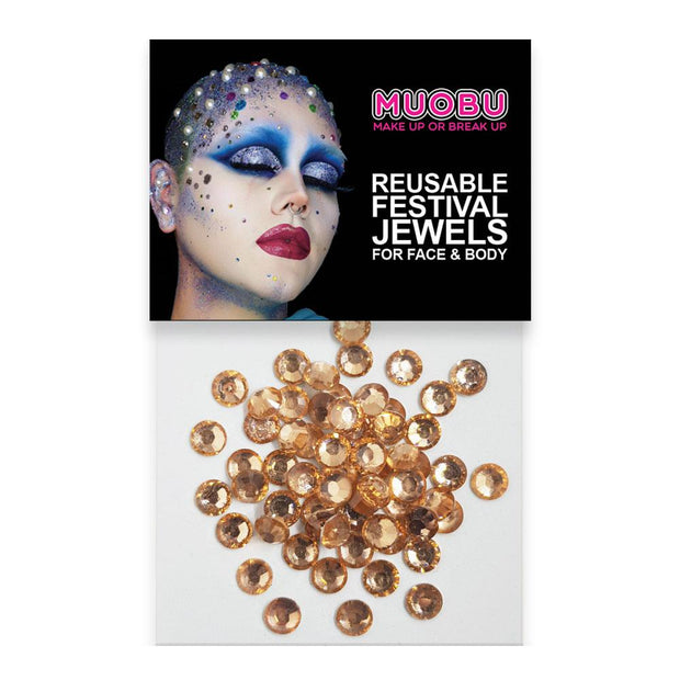MUOBU Rose Gold Diamantes - Metallic Face & Body Gems 6mm - MUOBU