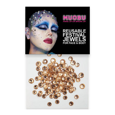 MUOBU Rose Gold Diamantes - Clear Face & Body Gems (4mm) - MUOBU