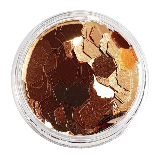 MUOBU Rose Gold Large Flake Glitter (Metallic Chunky Glitter Mix) - Gypsy Rose Lee - MUOBU