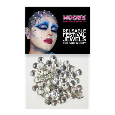 MUOBU Silver Diamantes - Face & Body Gems 6mm - MUOBU