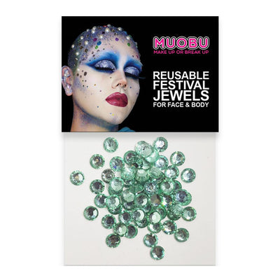 MUOBU Teal Diamantes - Clear Face & Body Gems 6mm - MUOBU