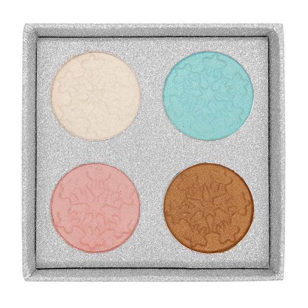 W7 W7 Frosted - Festive Icy Shimmers Eye Shadow Palette - MUOBU