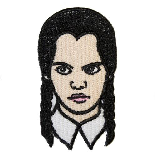 Wednesday Addams Left Iron-On Festival Patch
