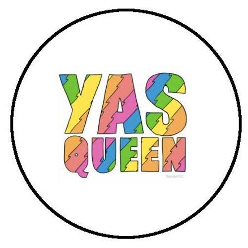 Yas Queen Rainbow Small Pin Badge