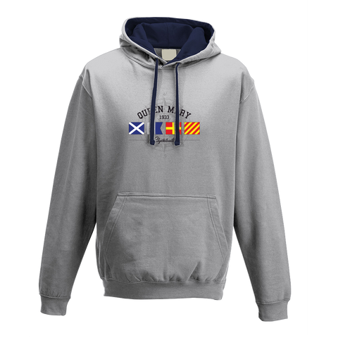 Queen Mary Grey Hooded Sweatshirt