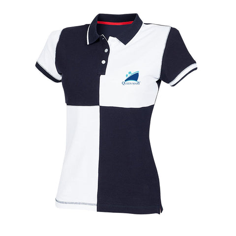 Ladies Queen Mary Quartered Polo Top