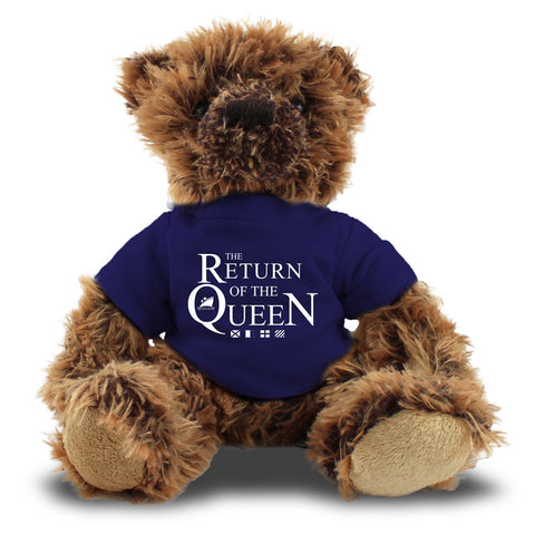 Queen Mary Teddy Bear with Navy T-Shirt