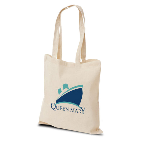 Queen Mary Logo Cotton Shopper Bag