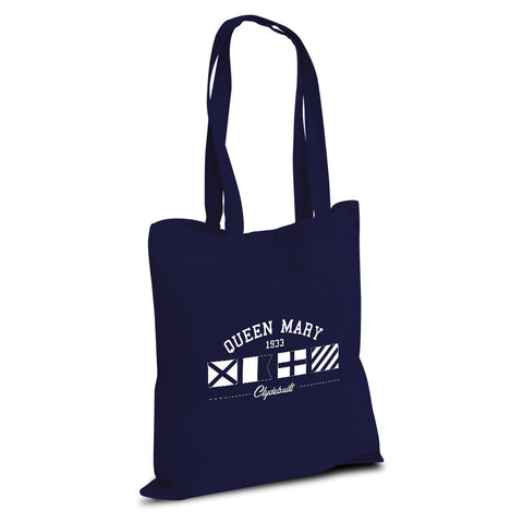 Queen Mary Navy Flags Cotton Shopper Bag