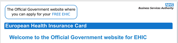 apply for an EHIC card to receive medical treatment in the EU