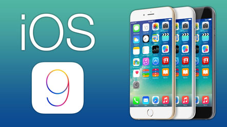 Apple iOS 9 logo and iPhone image