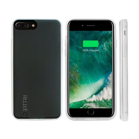 BATTRII PLUS - Ultra Thin Charging Case For iPhone 6, 7 & 8 Plus (5.5 inch, Black)