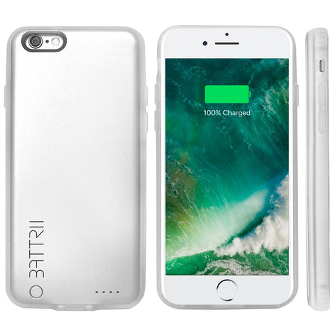 BATTRII PLUS Ultra Thin Charging Case For iPhone 6 & 6S Plus (5.5 inch, Silver)