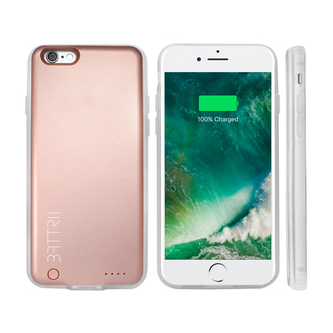 BATTRII - Ultra Thin Charging Case For iPhone 6 & 6S (4.7 inch, Rose Gold)