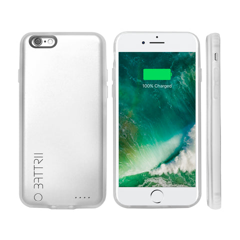 BATTRII Ultra Thin Charging Case For iPhone 6 & 6S (4.7 inch, Silver)