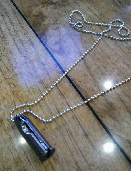 44 mag bullet necklace knife.