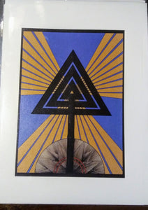 Radiant Triangle Greeting Card