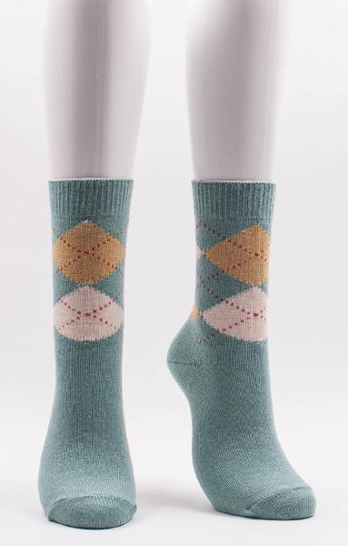 Argyle wool crew socks