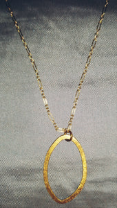 Gold Vermeil Oval Loop Necklace