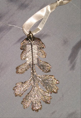 Plated Leaf Ornament