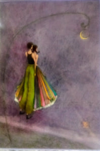 """A Bit of Moonlight"" Greeting Card"
