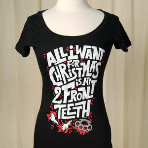 All I want for Christmas woman's t-shirt