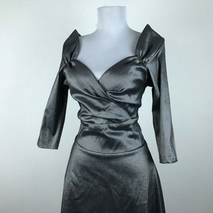 Steady Silver Rockabilly Dress