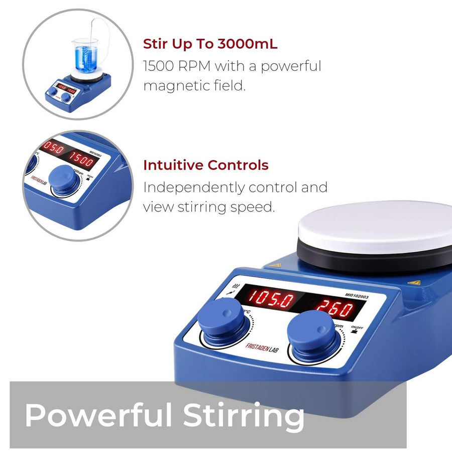 Fristaden Lab Digital Magnetic Stirrer Hotplate 5L 100-1500RPM - Fristaden Lab