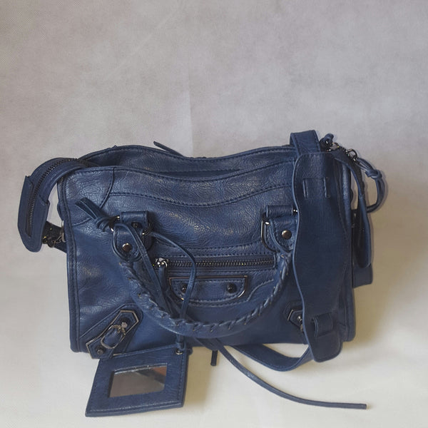 Medium Royal Blue Stud Bag (Metal Stud)