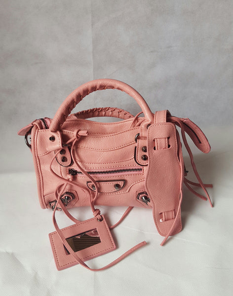 Mini Baby Pink  Bag (Metal  Stud)