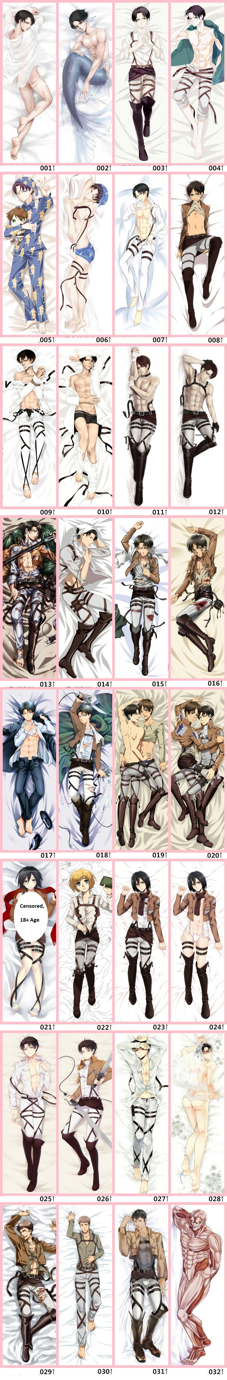 Attack on Titan Body Pillow Design Options