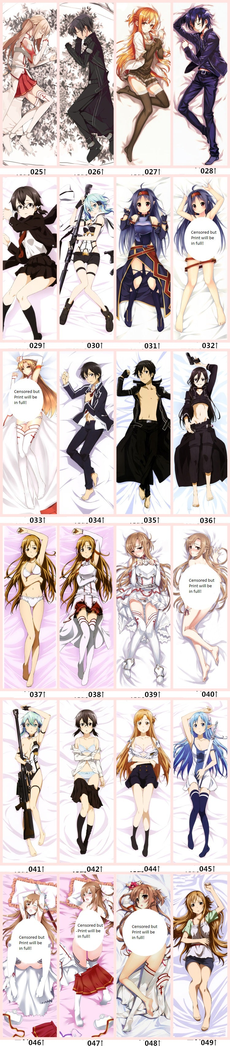 Sword Art Online Body Pillow