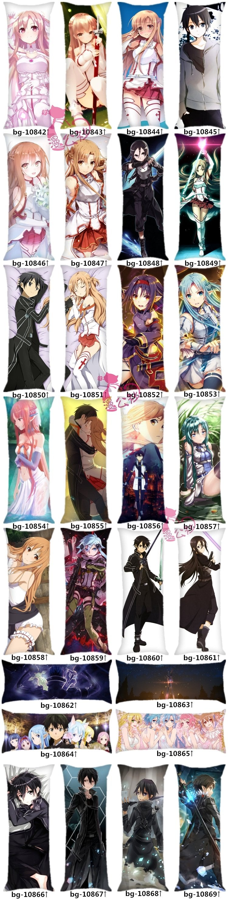 Sword Art Online Body Pillow Designs to Choose