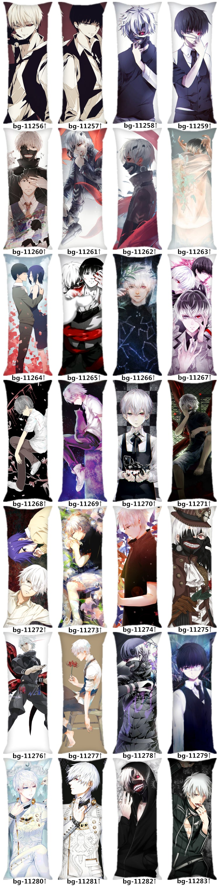Tokyo Ghoul Body Pillow - Design Collection