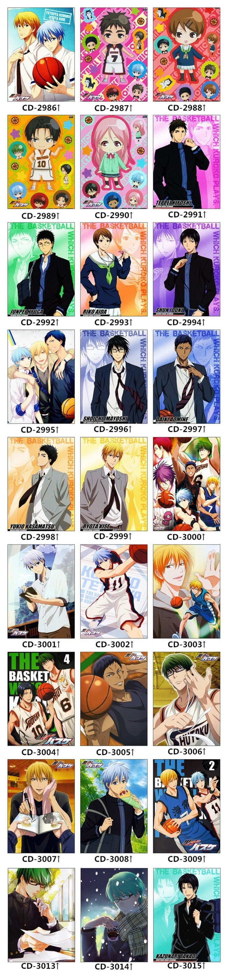 kuroko no basket bedding set designs