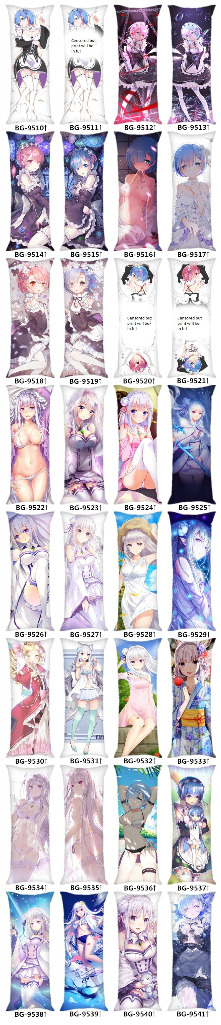 Rem Body Pillow, Re Zero Body Pillow
