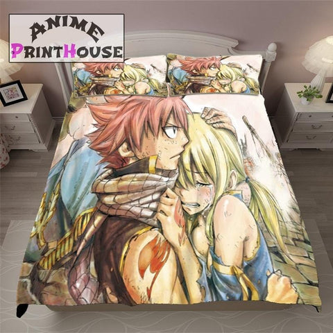 Anime Bed Sheets with Fairy Tail Nalu Moment